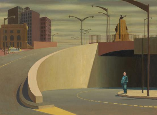 Jeffrey Smart, 'Cahill Expressway', 1962, National Gallery of Victoria, Melbourne ©