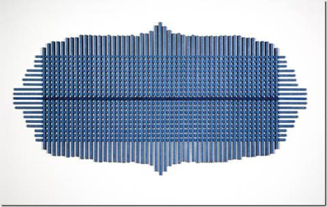 Hilarie Mais, 'Bay', 2001, painted wood, 127.2 x 244.8 cm, TarraWarra Museum of Art collection