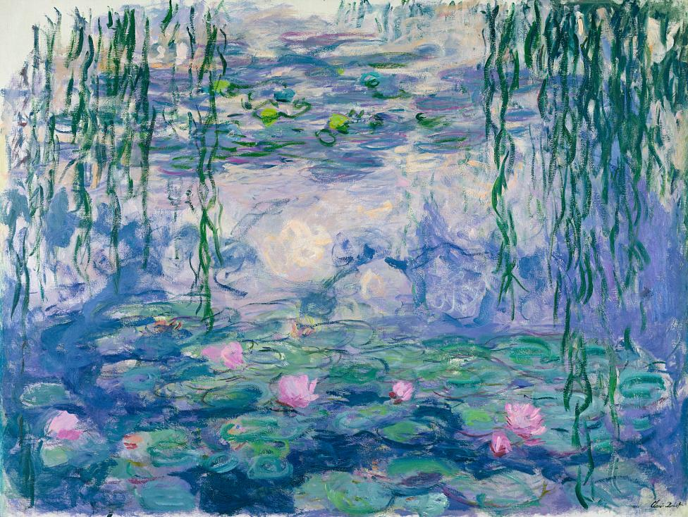 Claude Monet, 'Waterlilies' (Nymphéas), 1916–19, oil on canvas, 150.0 x 197.0 cm, Musée Marmottan Monet, Paris.