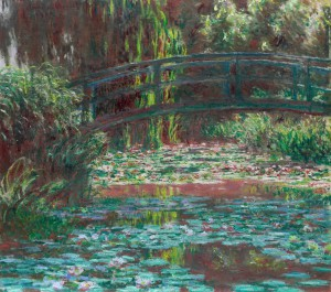 Claude Monet, 'The bridge over the waterlily pond', 1900, oil on canvas, 89.8 x 101.0 cm, Art Institute Chicago, Illinois.