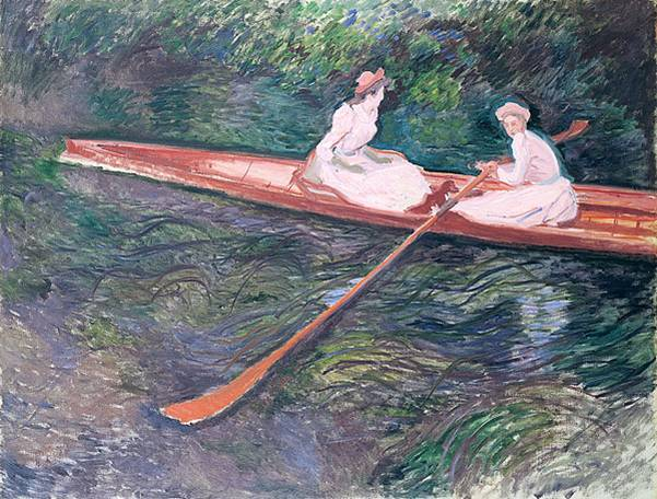 Claude Monet, 'The pink skiff', 1890, oil on canvas, 135 x 175 cms, private collection.