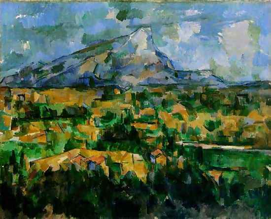 Image 1. Paul Cézanne, 'Mont Sainte-Victoire', 1902-04, oil on canvas, 73 x 91.9 cm. Philadelphia Museum of Art.