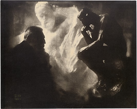 Edward Steichen, 'Rodin—The Thinker', 1902, gum bichromate print, 39.6 x 48.3cm. New York, MoMA.