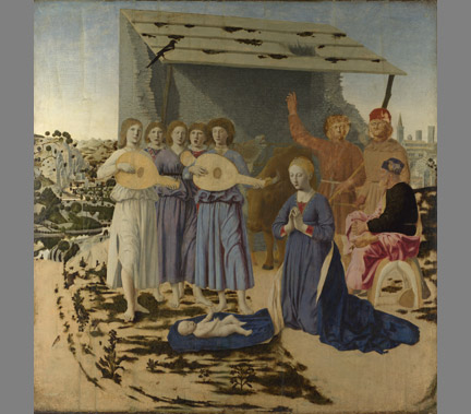 Piero della Francesca, 'The Nativity', c. 1470-5, National Gallery of London.