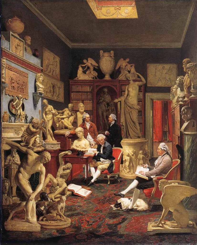 This 1782 painting by Johann Zoffany depicts Grand Tourist, Charles Townley, surrounded by Classical sculptures purchased in Italy (© Townley Hall, Burnley, Lancashire).