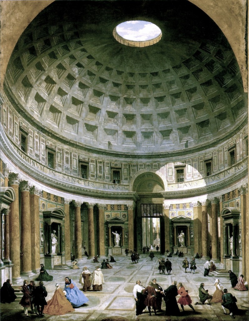 Giovanni Paolo Panini, 'Interior of the Pantheon', c. 1734, National Gallery of Art, Washington.