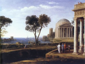 Claude Lorrain, 'Landscape with Aeneas at Delos', 1672, oil on canvas, 100 x 134 cm, National Gallery, London.