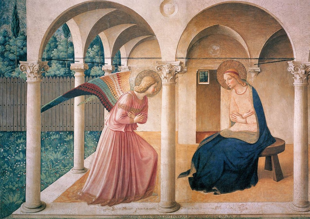 Fra Angelico, 'The Annunciation', c. 1445, Convent of San Marco, Florence