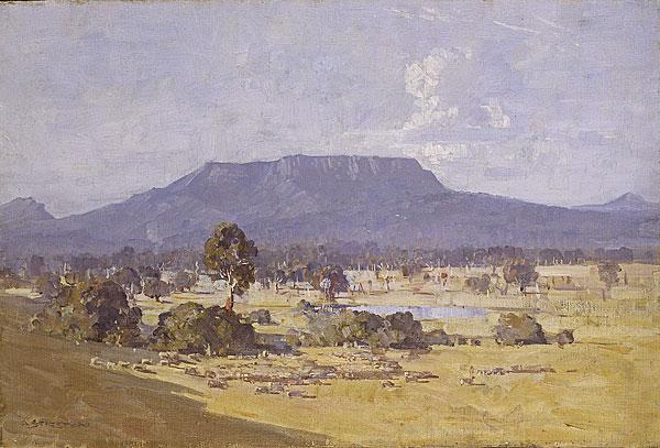 Arthur Streeton, 'The Land of the Golden Fleece', 1926, oil on canvas, 50.7 x 75.5 cm, National Gallery of Australia, Canberra