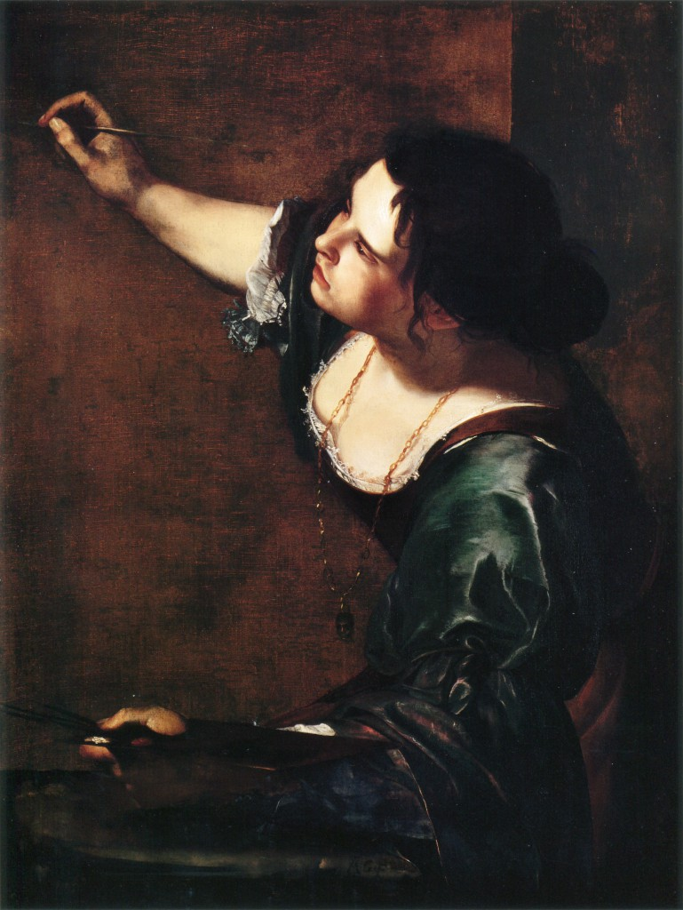 Artemisia Gentileschi, 'Self-Portrait as the Allegory of Painting', 1638-9, oil on canvas, 965 x 737 mm, Queen Elizabeth II Royal Collection