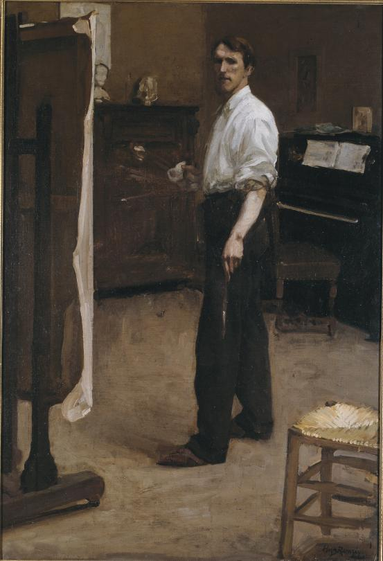 Hugh Ramsay, 'Portrait of the artist standing before easel', 1901-2, oil on canvas, 131 x 90 cm, National Gallery of Victoria, Melbourne