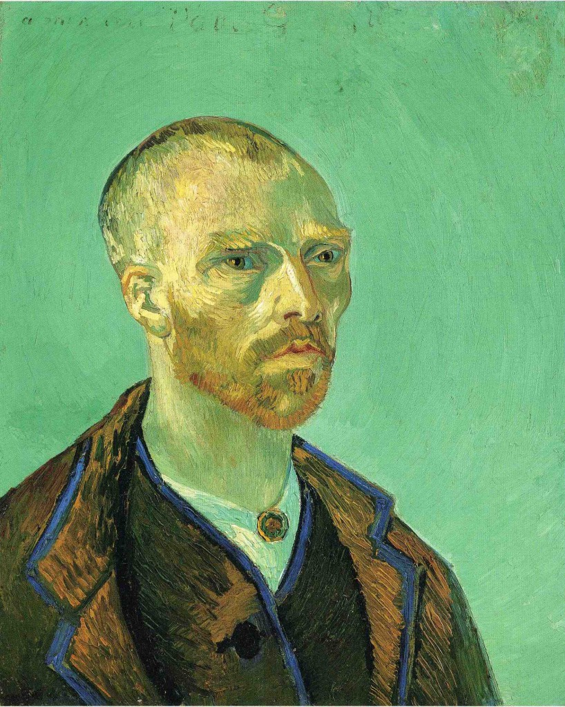 Vincent van Gogh, 'Self-Portrait, dedicated to Paul Gauguin', oil on canvas, 52 x 62 cm, Fogg Art Museum, Cambridge MA.