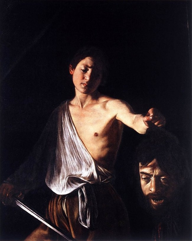 Michelangelo Merisi da Caravaggio, 'David with the head of Goliath', 1609-1610, oil on canvas, Borghese Gallery, Rome.
