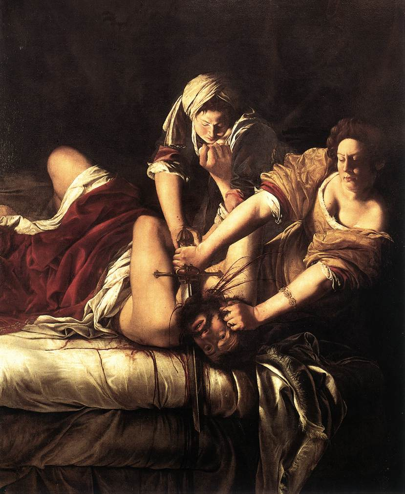 Artemisia Gentileschi, 'Judith Beheading Holofernes', c. 1620, oil on canvas, Uffizi Gallery, Florence.
