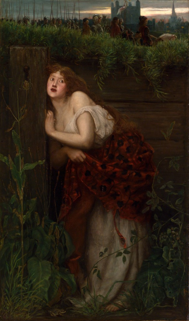 Val Prinsep, 'The flight of Jane Shore', c. 1865, oil on canvas, National Gallery of Victoria, Melbourne.