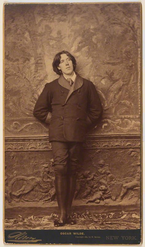 Napoleon Sarony, 'Oscar Wilde', 1882, albumen panel card, 305 x 184 mm, National Portrait Gallery, London