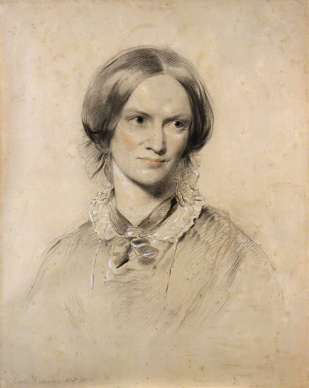 'Charlotte Brontë' by George Richmond, chalk, 1850, 600 mm x 476 mm. Bequeathed by the sitter's husband, Rev A.B. Nicholls, 1906. © National Portrait Gallery, London