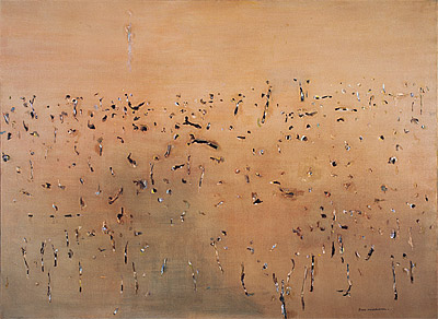 Fred Williams, 'Yellow landscape', 1968-69, oil on canvas, 141.7 x 193 cm, Geelong Gallery