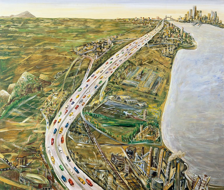 Jan Senbergs, 'The Geelong Road', 2004, synthetic polymer paint, Geelong Gallery