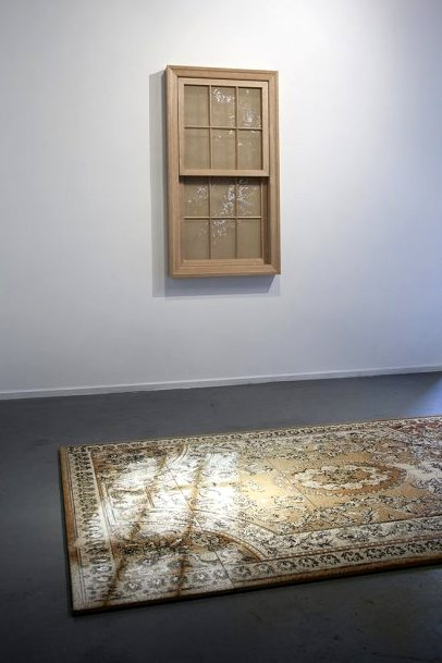 Georgina Cue, 'Light Works', 2012, acrylic yarn on tapestry canvas, hard wood, courtesy of the artist