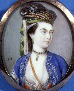 Gervase Spencer (c.1715–1763), English miniaturist, 'Lady Mary Wortley Montagu', undated.