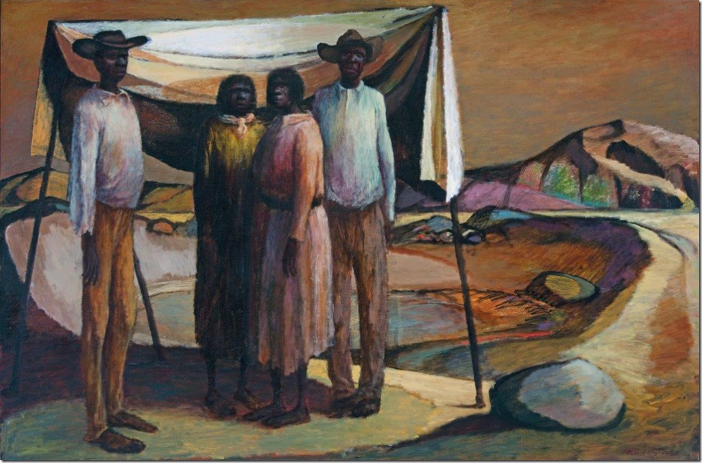 Russell Drysdale, 'Mullaloonah tank', 1953, oil on canvas, 123 x 183.4 cm. Art Gallery of South Australia, Adelaide, © Estate of Russell Drysdale.
