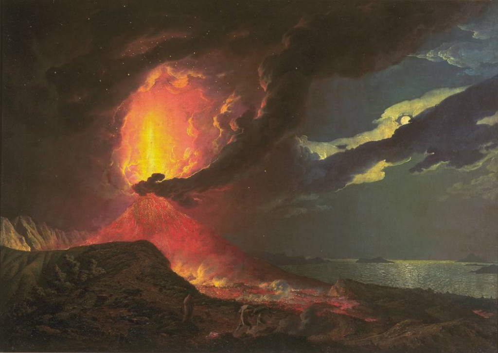 Joseph Wright of Derby, 'Vesuvius in Eruption, with a View over the Islands in the Bay of Naples', c.1776-80, © Tate Britain, London.