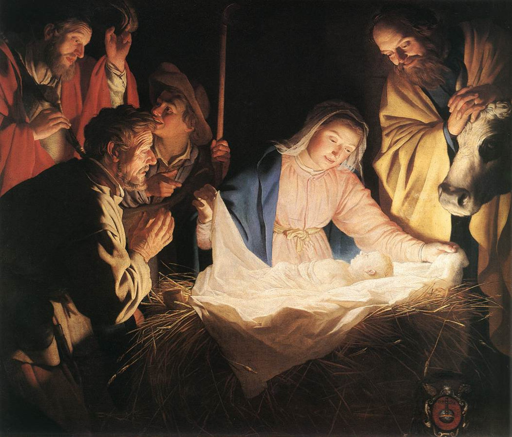 Gerrit van Honthorst, 'The Adoration of the Shepherds', 1622, Wallraf-Richartz Museum, Cologne