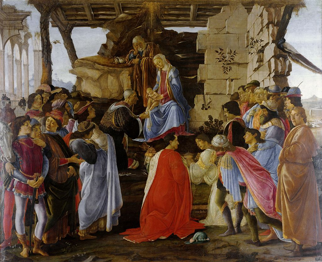 Sandro Botticelli, 'The Adoration of the Magi', c. 1475, tempera on panel, Uffizi, Florence