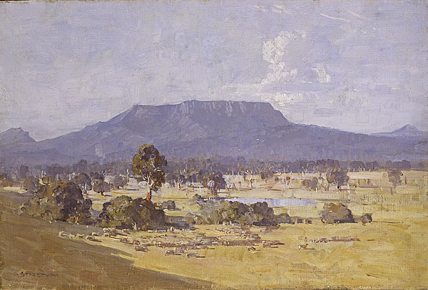 Arthur Streeton, 'The Land of the Golden Fleece', 1926, oil on canvas, 50.7 x 75.5 cm, National Gallery of Australia, Canberra
