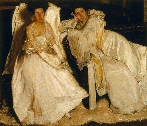 Hugh Ramsay, 'The Sisters', 1904, oil on canvas, 125.7 x 144.8 cm, Art Gallery of NSW, Sydney
