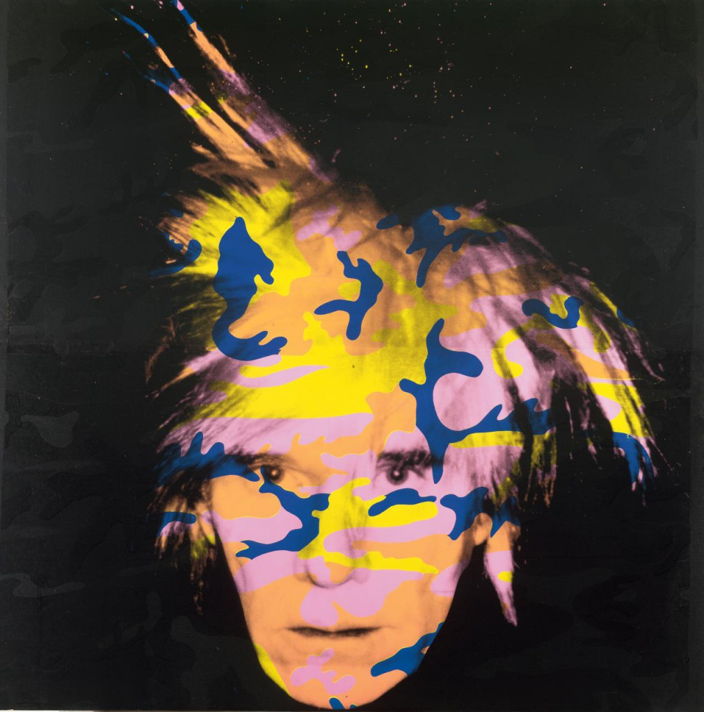 Andy Warhol, 'Self-portrait no. 9', synthetic polymer paint and screen-print on canvas, 203.5 x 203.7 cm, NGV, Melbourne.