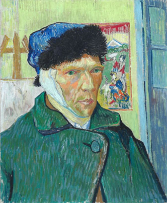 Vincent Van Gogh, 'Self-Portrait with Bandaged Ear', 1889, oil on canvas, 60 x 49 cm, Courtauld Gallery, London.