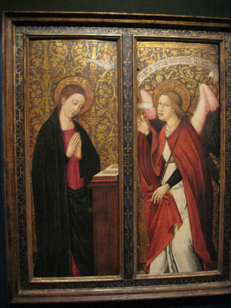 Nicolas Falco, 'The Annunciation', Valencia, Spain, c. 1470-1527, oil on panel, gold ground