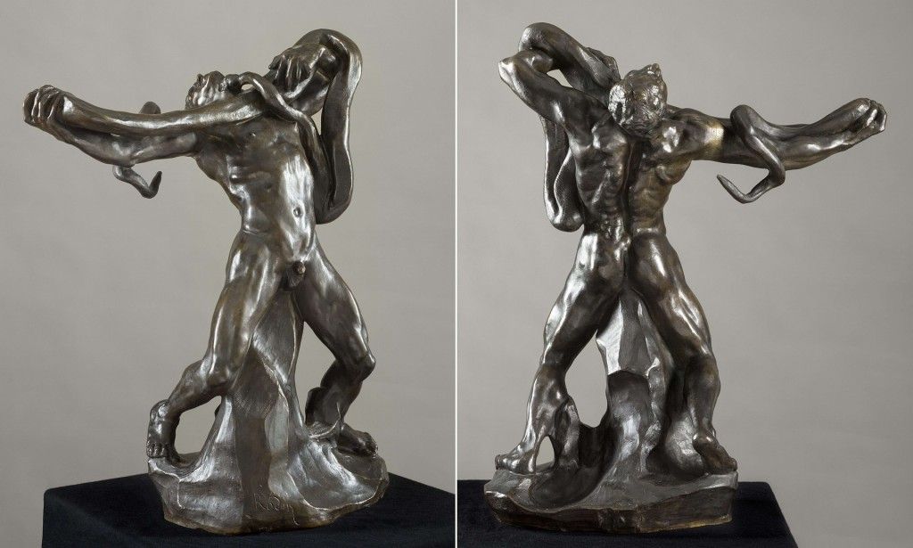 Auguste Rodin, 'Man with snake', Lausanne Museum of Fine Arts. Photograph: AFP/Getty Images
