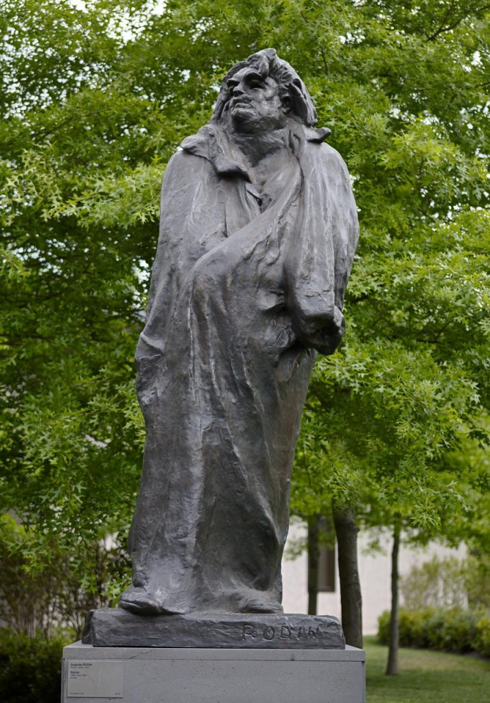 Auguste Rodin, Balzac, 1898, cast 1967, bronze, 422.2 x 123.5 x 306.0 cm (overall), Melbourne, National Gallery of Victoria