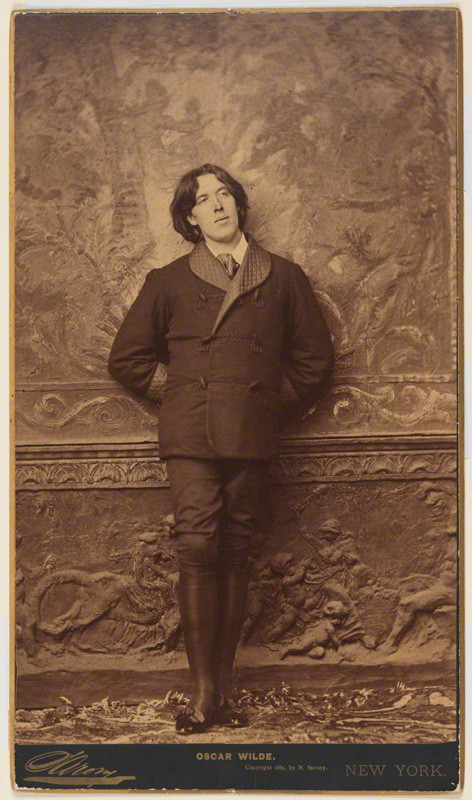 Napoleon Sarony, 'Oscar Wilde', 1882, albumen panel card, 305 x 184 mm, National Portrait Gallery, London