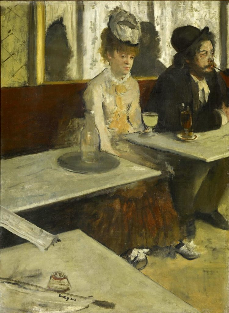 Edgar Degas, 'In a café (The Absinthe drinker)', c. 1875–76, oil on canvas, 92.0 x 68.5 cm, Musée d'Orsay, Paris.