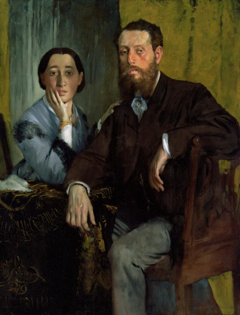 Edgar Degas, 'Edmondo and Thérèse Morbilli', c. 1865, oil on canvas, 116.5 x 88.3 cm, Museum of Fine Arts, Boston.
