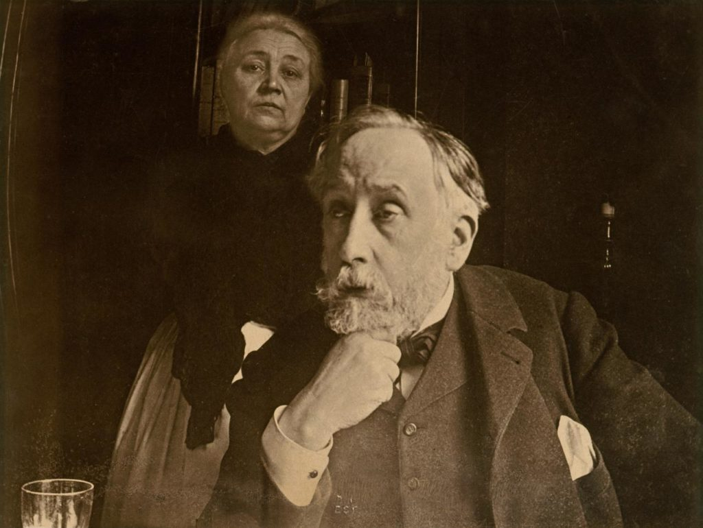 Edgar Degas, 'Self-portrait with Zoé Closier probably autumn', 1895, gelatin silver print, 18.2 x 24.2 cm (image and sheet), Bibliothèque nationale de France, Paris.
