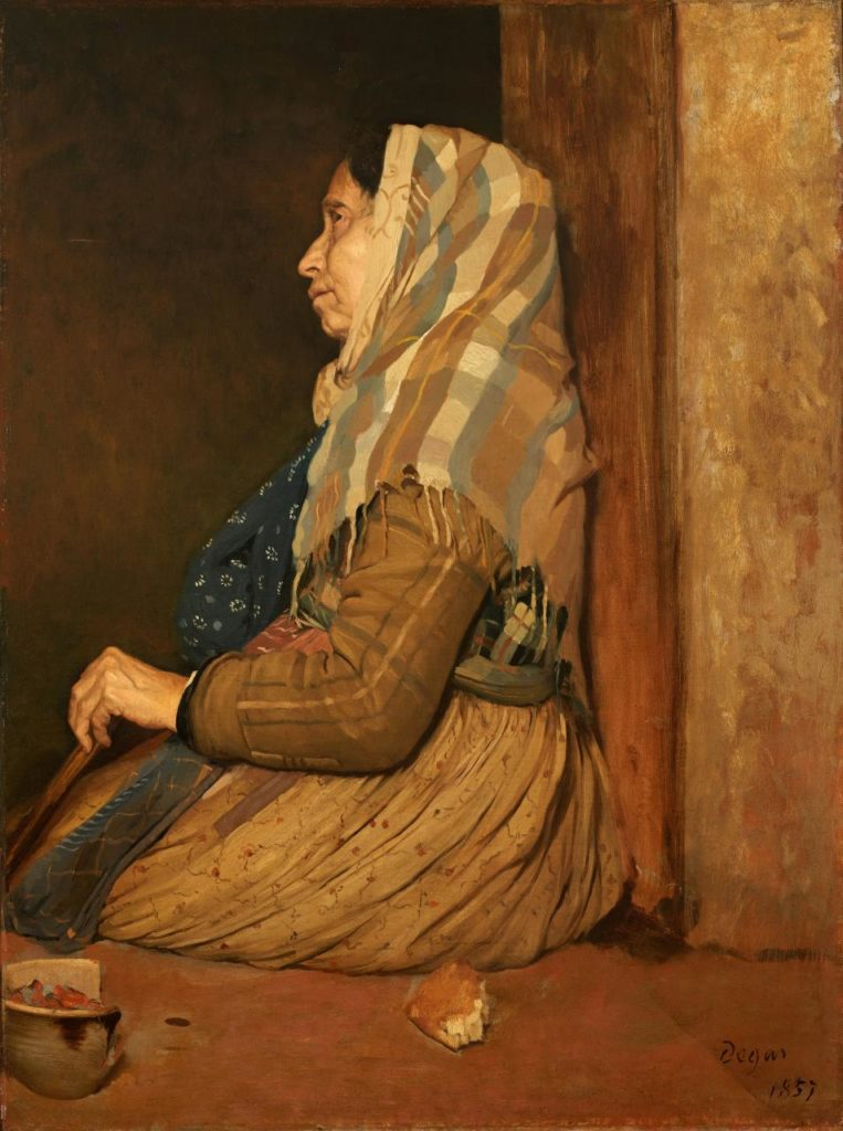 Edgar Degas, 'Roman beggar woman', 1857, oil on canvas, 100.3 x 75.2 cm, Birmingham Museum and Art Gallery.