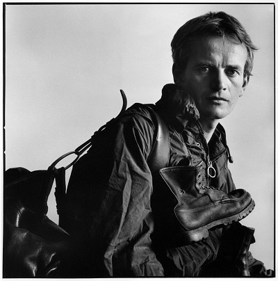 Bruce Chatwin by Lord Snowdon, vintage bromide print, 28 July 1982