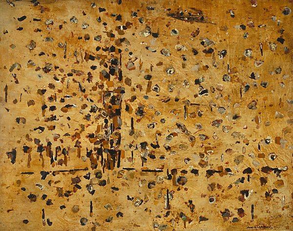 Fred Williams, 'You Yangs landscape', 1963, oil on hardboard, 119.5 x 152 cm, Art Gallery of NSW, Sydney
